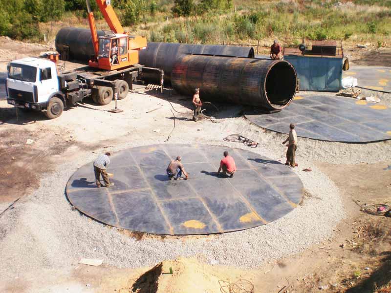 1 База для хранения жидких минеральных удобрений