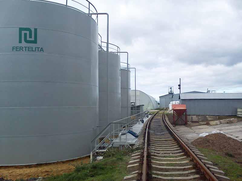 DSC00696 Construction of the tank farm for liquid chemical fertilizers