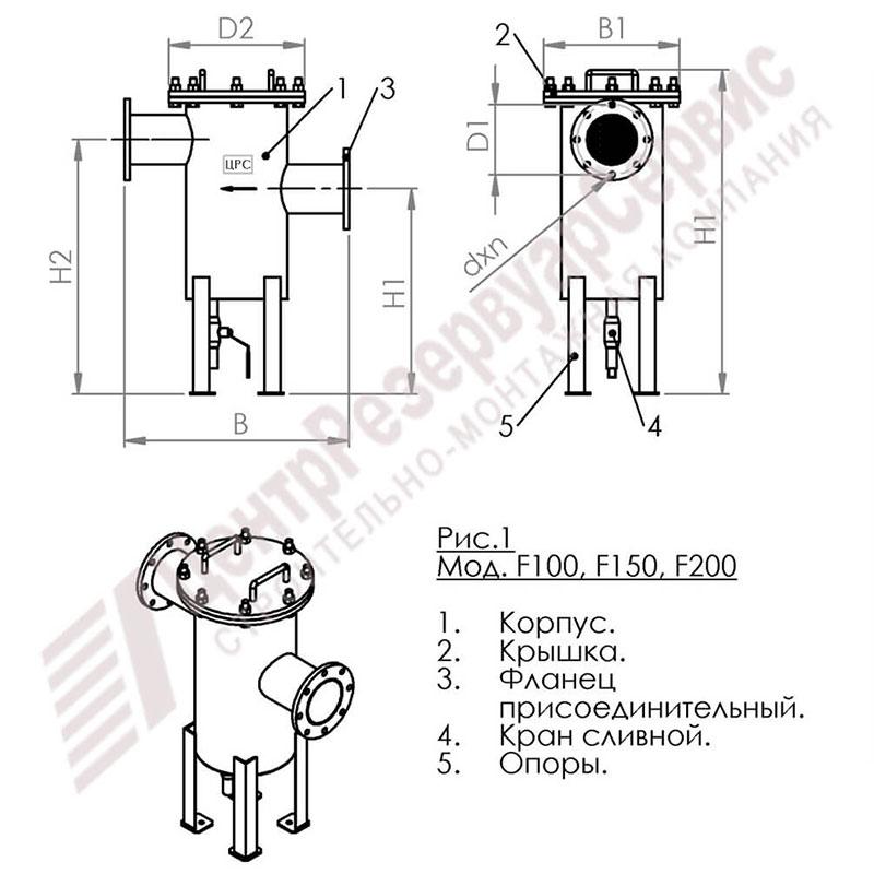 filtr gruboj ochistki topliva risunok Фильтр грубой очистки топлива для резервуара