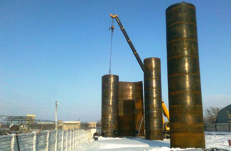 stroitelstvo rezervuarov dlya kas foto Строительство резервуаров для хранения КАС